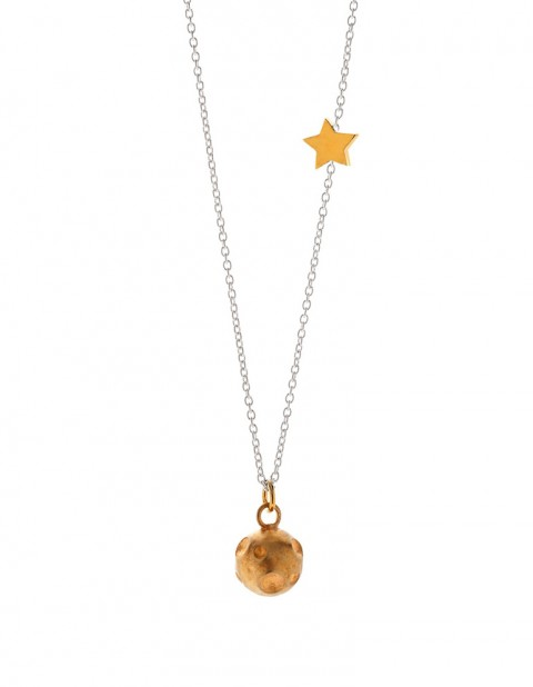 Astral gold moon necklace AS10-GP/S
