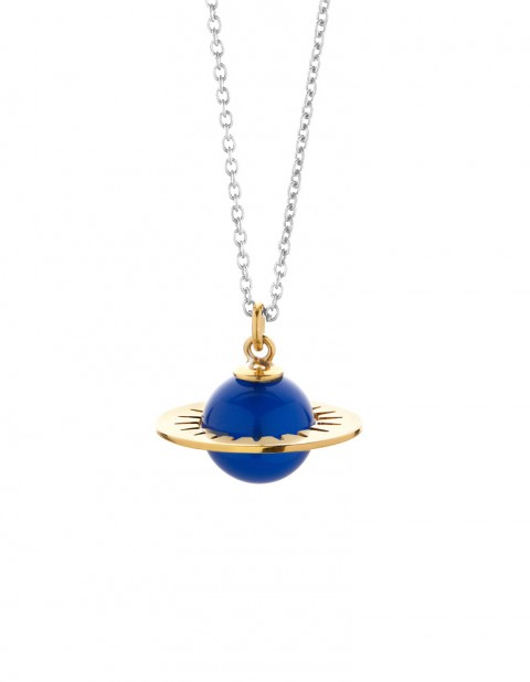 Astral medium planet necklace with blue agate AS01-GP/BA/S