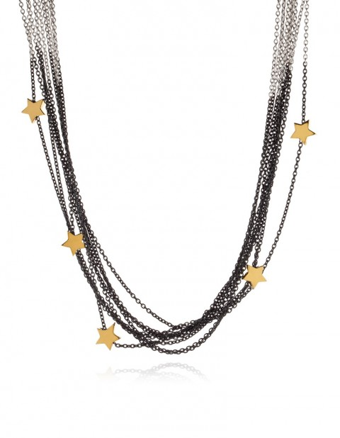 Astral multi star necklace AS14-GP/OX-S