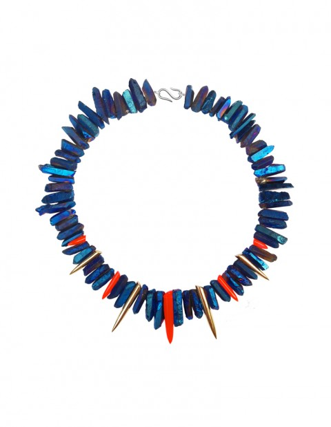 Paradise necklace 2 - blue and red TK11- GP/RPX/ BTQ