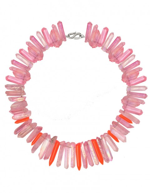 Pink and neon paradise necklace TK32-PKQ/RPX