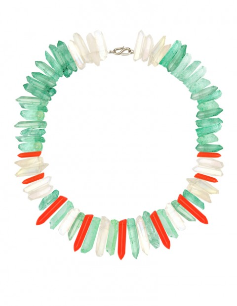 Green and neon paradise necklace
