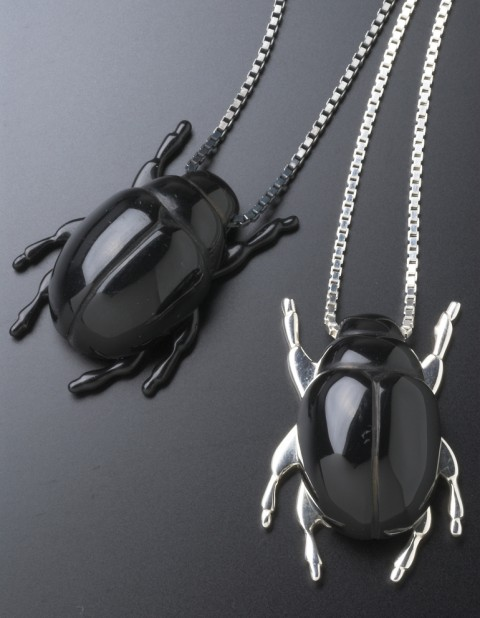 Beetle Necklaces BE07 BE08 black