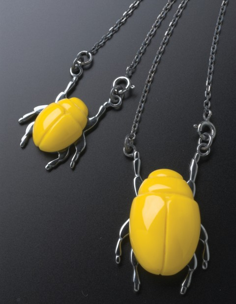 Beetle Necklaces BE13 BE09 yellow