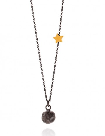 Astral black moon necklace AS10-RD/OX