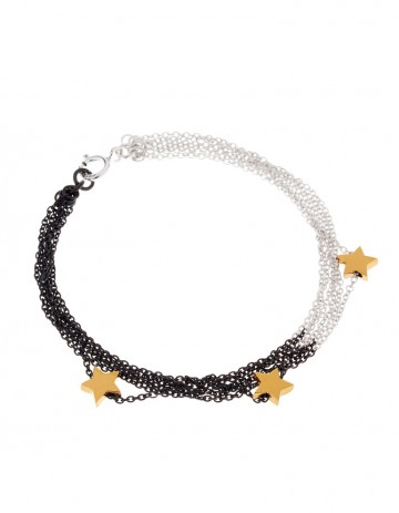 Astral multi star bracelet AS15-GP/OX-S
