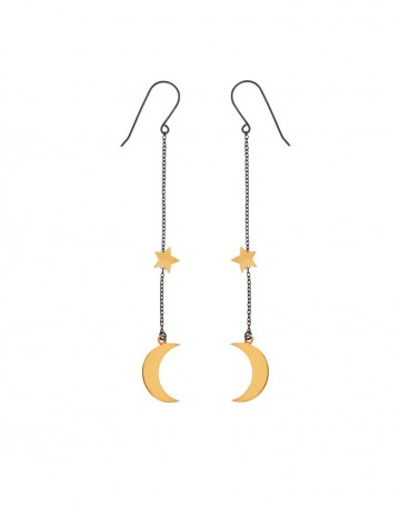 Astral half moon earrings AS16-GP/OX