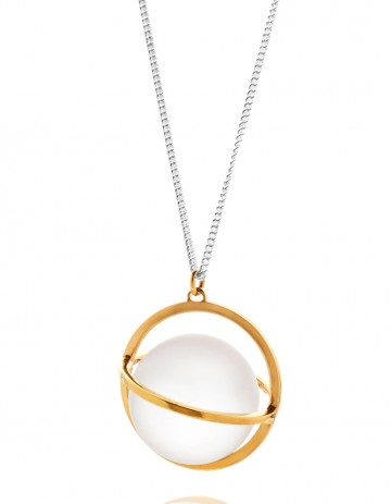 Astral XL gold orbit necklace with glass AS21-GP/GL