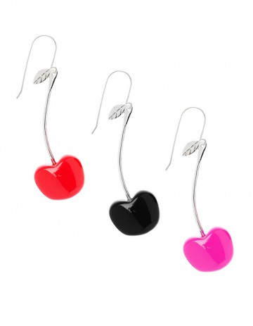 Cherry earring C01 Pink Black Red