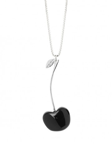 cherry necklace C02 black