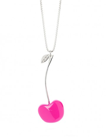 Single Cherry Necklace C02 Pink