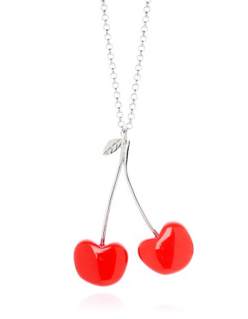 Double cherry necklace C03 Red