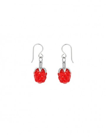 Red raspberry earrings RSP00-R/S