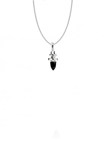 mini totem necklace silver onyx PW30/1-S/ON/S