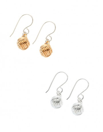 Little Lash Ball Knot Earrings LL08