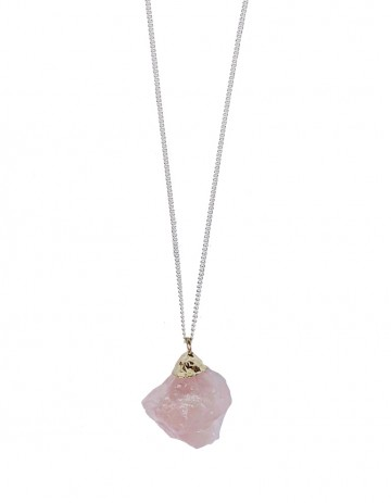 Rose quartz nugget necklace TK39- RQ/S