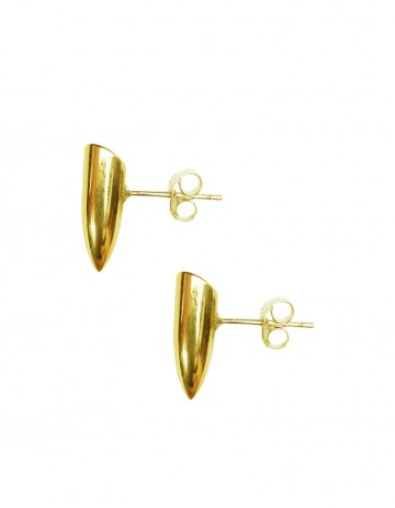 Small tusk earrings gold TK00 - GP/S