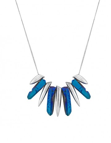 Blue tusk necklace - TK08-S/BTQ/S