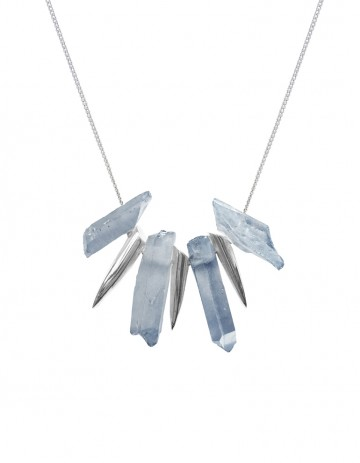 Grey tusk necklace TK25-LBQ/S/S