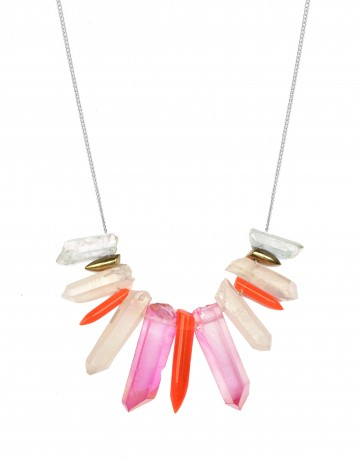 Small tropical necklace TK27-PKQ/WHQ/LBQ/RPX/S
