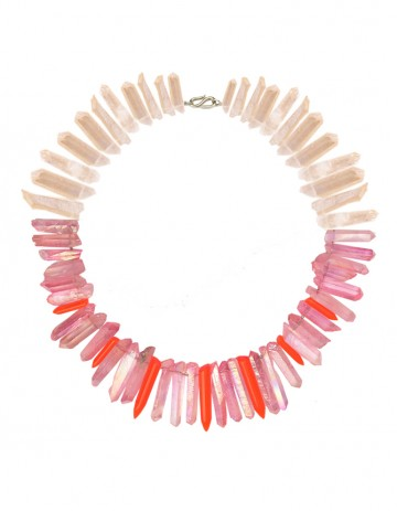 Pink peach necklace TK32-PCHQ/PKQ/RPX