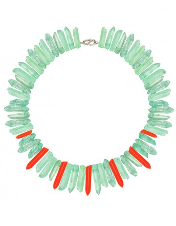 Green and neon paradise necklace TK32-GPQ-RPX