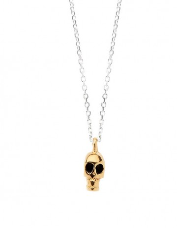 Gold skull necklace SS02-GP/S