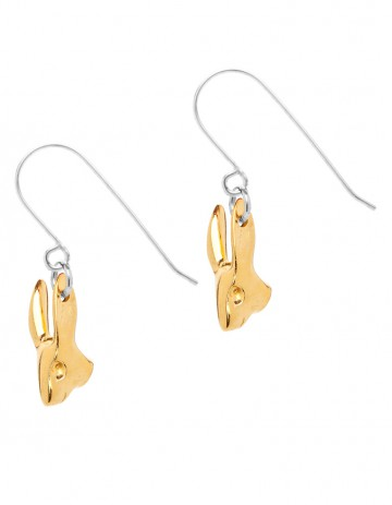 gold rabbit earrigns R00/1_GP