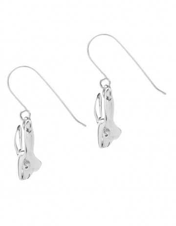 Silver rabbit earrings R00/1_S